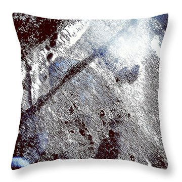 Blu Abstract 2 Throw Pillow