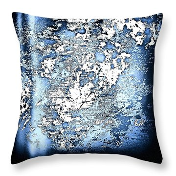 Blu Abstract Throw Pillow