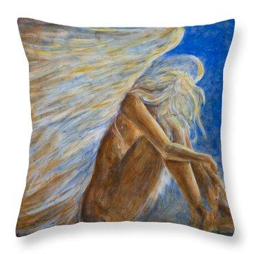 Blu Angel Throw Pillow