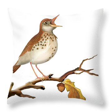 Throw Pillow featuring the painting Bluble' by Anne Beverley-Stamps