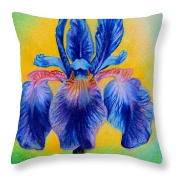 Blue ... Throw Pillow by Zina Stromberg