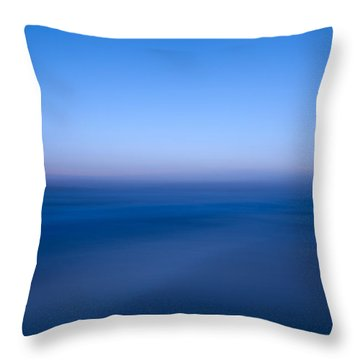 Blue #1 Throw Pillow by Catherine Lau