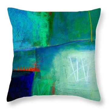 Blue #1 Throw Pillow by Jane Davies