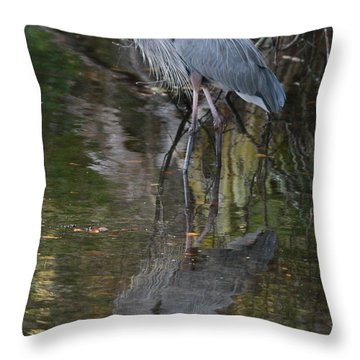 Blue 1212 Throw Pillow by Deborah Benoit