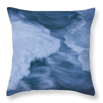 Blue 3                              Throw Pillow by Jack Zulli