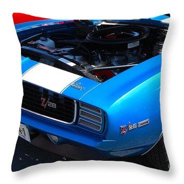 blue '69 Camaro Z28 Throw Pillow