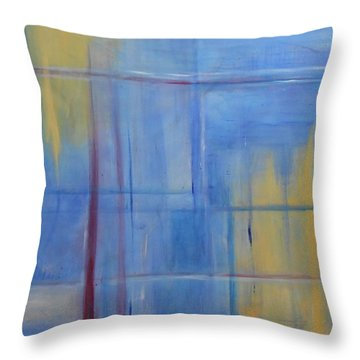 Blue Abstract Throw Pillow by Jamie Frier