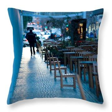 Blue Afternoon San Francisco Throw Pillow