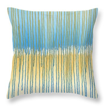 Blue And Gold Throw Pillow