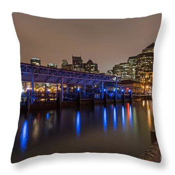 Blue And Gold Night Throw Pillow