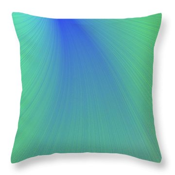 Blue And Green Abstract Throw Pillow by Paul Sale Vern Hoffman