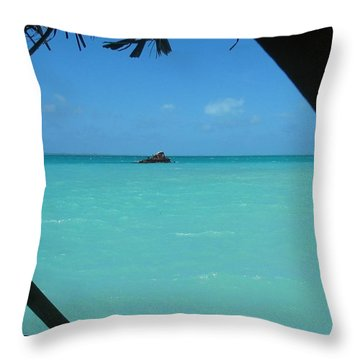 Throw Pillow featuring the photograph Blue And Green by Photographic Arts And Design Studio