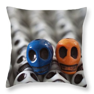 Blue And Orange Throw Pillow by Mike Herdering