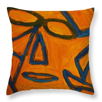 Blue And Orange Throw Pillow