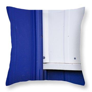 Blue And White Throw Pillow by Christi Kraft