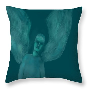 Blue Angel Throw Pillow by Andreja Hotko Pavic