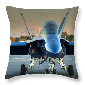 Blue Angel At Sunset Throw Pillow