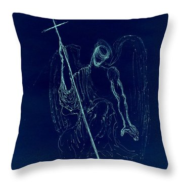 Blue Angel Series Throw Pillow