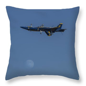 Blue Angels Double Over Moon 1 Throw Pillow by D Wallace