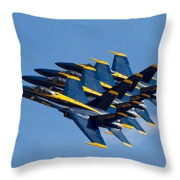 Blue Angels Echelon Throw Pillow