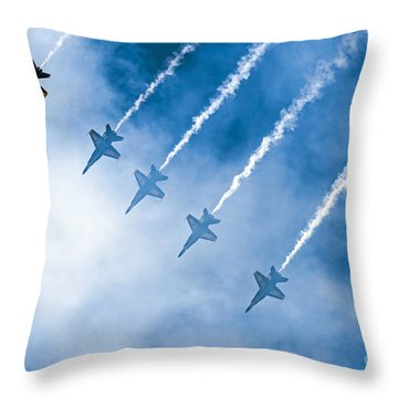 Blue Angels Throw Pillow