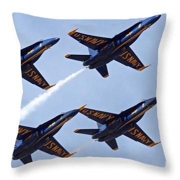 Blue Angels Over Colorado Throw Pillow