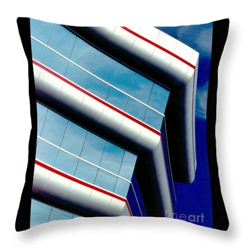 Blue Angled Throw Pillow by Gary Gingrich Galleries
