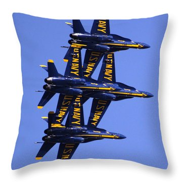 Blue Angels II Throw Pillow by Bill Gallagher
