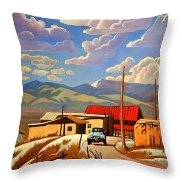 Blue Apache Throw Pillow