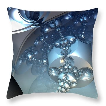 Blue Appendages Throw Pillow by Melissa Messick