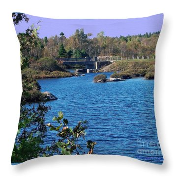 Throw Pillow featuring the photograph Blue As Blue Can Be by Gena Weiser