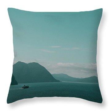Blue As Fjord Throw Pillow