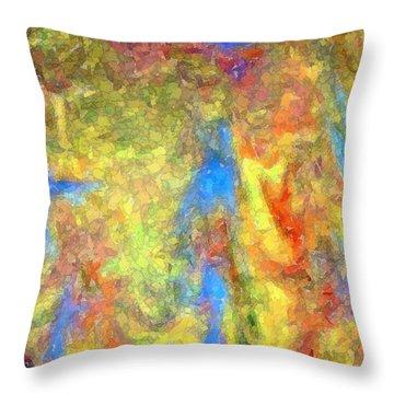 Blue Ascension Throw Pillow by Barbie Corbett-Newmin