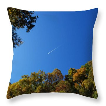Throw Pillow featuring the photograph Blue Autumn Skies by Kelvin Booker