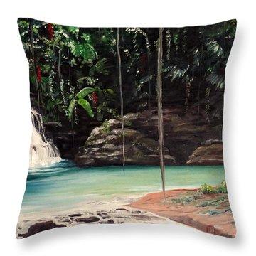 Blue Basin Throw Pillow by Karin  Dawn Kelshall- Best