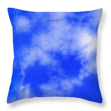 Blue Batik Pattern  Throw Pillow by Kerstin Ivarsson