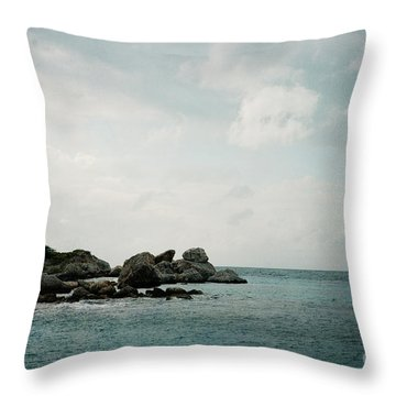 Blue Bay Beach Throw Pillow by Kim Fearheiley
