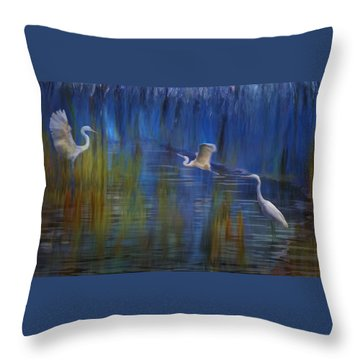Blue Bayou II Throw Pillow
