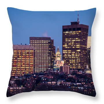 Blue Beacon Hill Throw Pillow