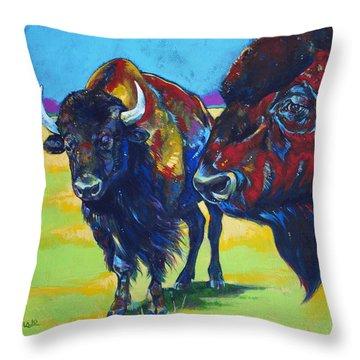Blue Beard Throw Pillow by Derrick Higgins
