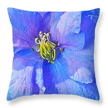 Blue Beauty Throw Pillow by ABeautifulSky Photography