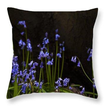 Blue Bells Throw Pillow by Svetlana Sewell