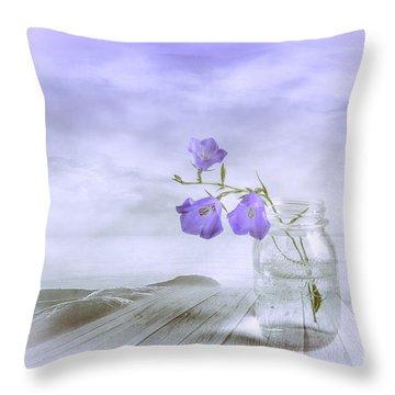 Blue Bells Throw Pillow by Veikko Suikkanen