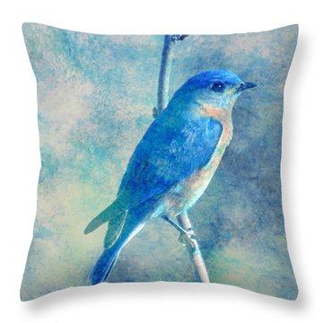 Blue Bird Blue Sky Throw Pillow