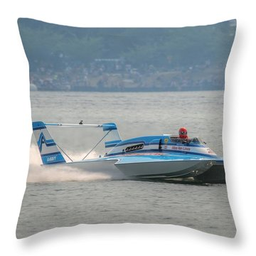 Blue Blaster Throw Pillow
