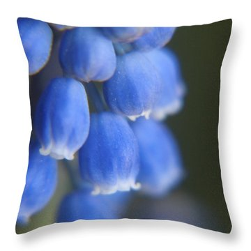 Blue Blossoms Throw Pillow