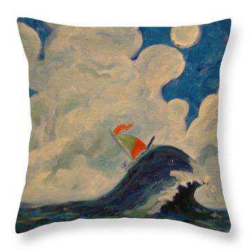 Happy Wanderer Four Throw Pillow