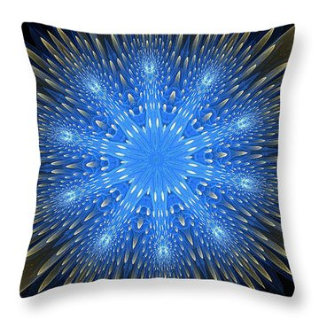 Blue Boldness Mandala Throw Pillow
