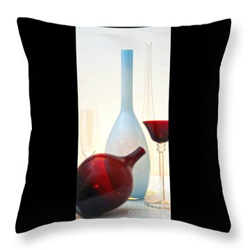 Throw Pillow featuring the photograph Blue Bottle by Elf Evans