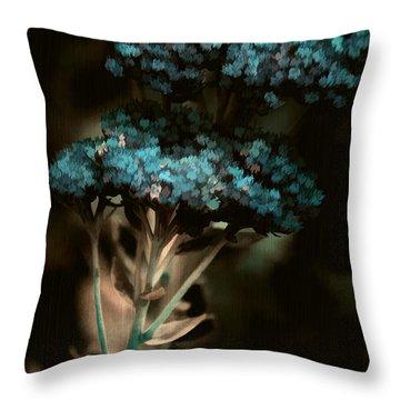 Blue Bouquet Throw Pillow by Bonnie Bruno